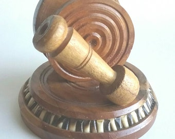 Retro Wooden Desk Secretary Mail Holder Paperweight