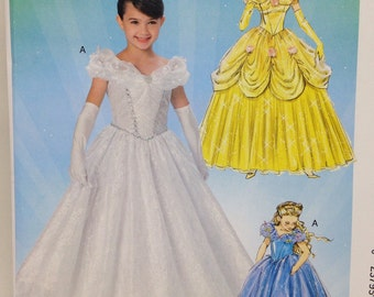 Uncut, Girls Size 3 4 5 6 7 8, McCalls Costumes Sewing Pattern MP254, Princess, Belle, Beauty,  Fairy Princess, Angel, Princess, Dress Up