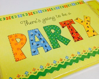 There's Going to Be a Party Blank Invitations by Hallmark Set of 8, Sealed with Yellow Envelopes
