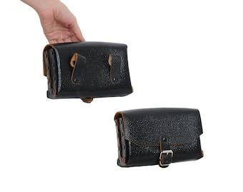 Saddle Leather BELT BAG | Black Pebbled Leather Fanny Bag