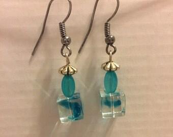 Blue dangle earrings.....free shipping