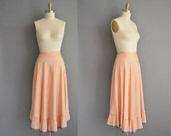 40s nude pink vintage lingerie slip. vintage 1940s skirt
