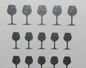 Toe nail / finger nail art Wine Glasses decals / stickers / pedicure