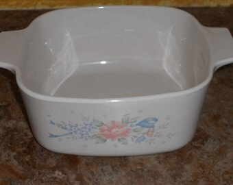 "Vintage Corningware ""Symphony"" Casserole Dish-1.5 Liter"