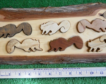 Handmade Wood Squirrels Puzzle