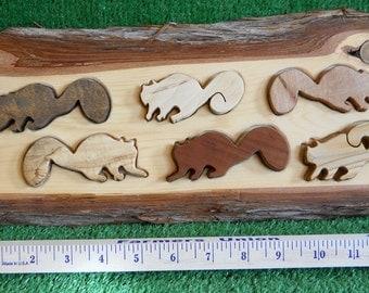 Handmade Wood Squirrels Puzzle