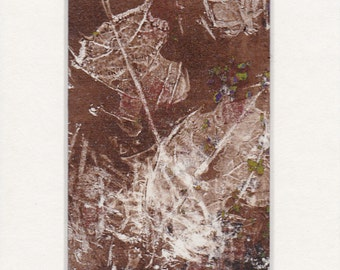 ACEO original - monoprint nature