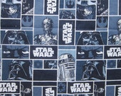 1.375 yards fabric - STAR WARS fabric - Darth Vader, C3PO, R2D2 - Eugene Textiless style 7310011, 2013 Lucasfilm Ltd