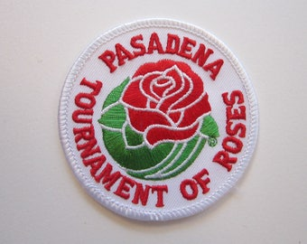embroidered patch - PASADENA Tournament of Roses, applique