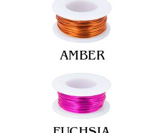25% OFF!! WIRE - 18g (AWG) - Enameled Copper Wire - Pick Your Color