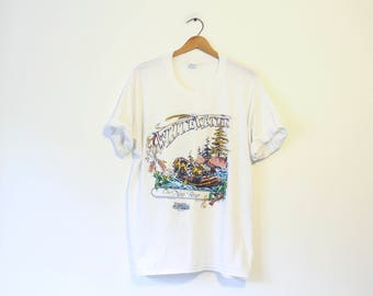 Vintage White Water Rafting The New River Hico West Virginia T Shirt