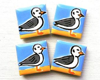 Seagull Magnet, Fridge Magnet, Bird Magnet, Seaside, Stationary Magnets, Gift for Teacher, Refrigerator Magnet