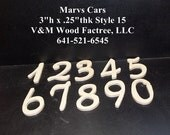 Pkg of 2 Unfinished Wood Numbers Style 15  for Amanda