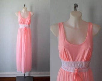 Vintage Pink Nightgown, Van Raalte, 1960s Nightgown, Vintage Nightgown, Pink Nightgown, Vintage Lingerie, Romantic, Lingerie