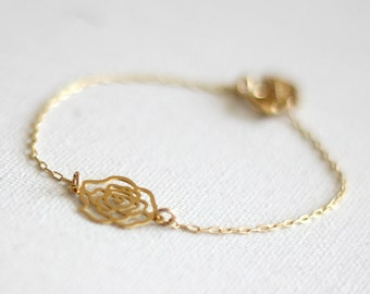 Rose Bracelet, Flower Bracelet, Rose Jewelry, Rose Lace Bracelet, Floral Bracelet, Filigree Bracelet, Floral Jewelry, Rose Shaped Bracelet