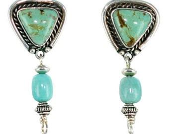 KINGMAN TURQUOISE Earrings New World Gems