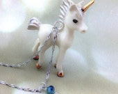 Sterling Silver Unicorn Necklace - Fantasy Necklace For Women - Gifts For Her Under 30 - Unique Birthstone Jewelry For Her Unicorn Pendant