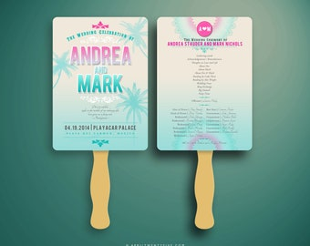 ANDY Beach Wedding Fan Program