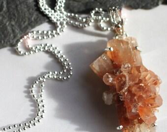 Rock Candy - Natural Aragonite Star Cluster Sterling Silver Necklace
