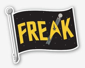 """Star Trek Freak Flag 4"""" vinyl sticker"""