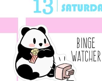 TV Panda Planner Stickers - Mini Sheet MULTI SIZES