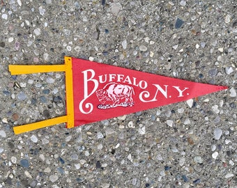 Vintage Buffalo New York Pennant
