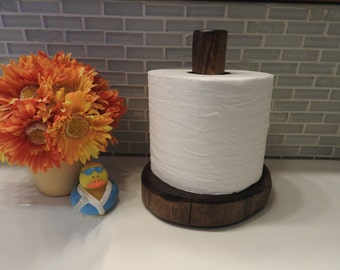 Log Toilet Paper Holder Countertop - Espresso