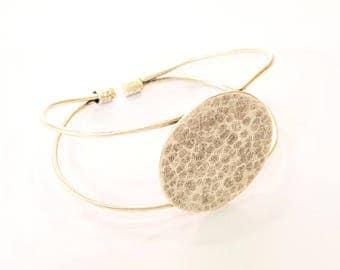 Bracelet Blanks Bangle Blanks Cuff Blanks Adjustable Bracelet Blank Antique Silver Plated Brass ( 30mm Blanks ) G7628