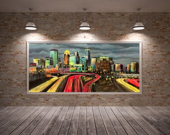 Minneapolis Skyline Art, Minneapolis Skyline Wall Art, Minneapolis Skyline, Minneapolis City Scape, Minneapolis Art Print, Minneapolis MN