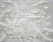 """Crochet Baptism Cross Blanket V PDF ePattern 26"""" x 32"""" (66 cm x 81 cm)"""