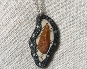 Shell and Bug WIng Pendant