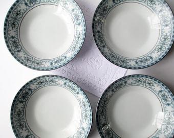 Vintage Noritake Soup Bowls Burlington Set of Four - Classic Dining