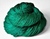Shattered malachite - Silk Fingering Yarn