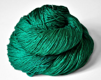 Shattered malachite - Silk Fingering Yarn