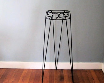 Mid Century Hairpin Plant Stand