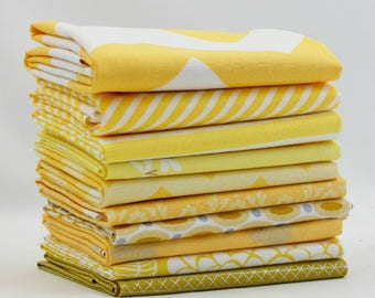 Yellow - 10 Half Yard Bundle (YE.10HY) by Mixed Designers for Southern Fabric