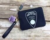 Ouija Handbag, planchette handbag, ouija board bag, planchette wristlet, ouija wristlet