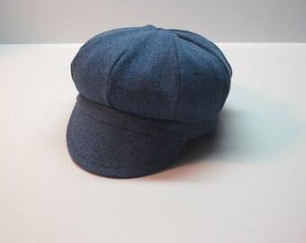 Baby Newsboy Cap Baby Hat Denim Baby Cap
