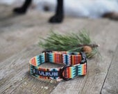Dog Collar - Summer Pines with Black Buckle