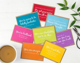 Cards of Encouragement Set – Postcards – Notelets – Note Cards – Good Luck Cards – Love Notes