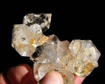Smokey Golden Healer Herkimer Diamond from New York Quartz Crystal Cluster Specimen