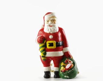 Vintage Santa Light, Retro Christmas Decoration, Hard Plastic Santa Claus, 1950s Christmas Decor, Lighted Santa, Santa Wall Hanging