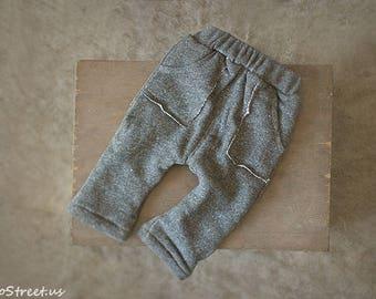 Baby Gray Pants , Baby Boy Prop Pants, Baby Boy Hat Set, , Photo Prop, Baby  Props, RTS, Baby Props, RTS