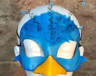 Blue Bird Leather Mask