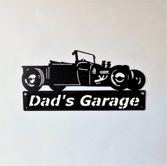Ford Hot Rod Man Cave / Car Sign / Rat Rod / Garage Sign / Black / Metal Art / Metal wall decor  / Hot Rod / Personalized Metal Sign