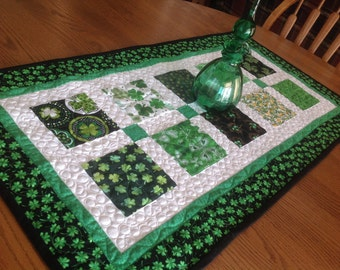Shamrock Charmer 19x37 quilted table runner