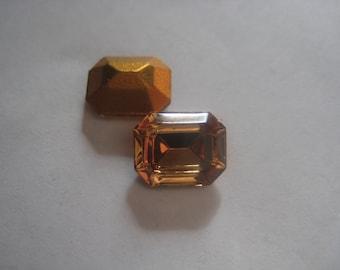 10 x 8 Swarovski Rhinestone Light Smoked Topaz Glass Jewel Octagon Qty 104
