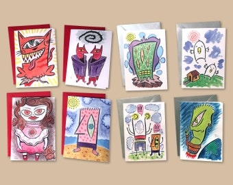 Greeting Card 8 Pack - FREE DOMESTIC SHIPPING
