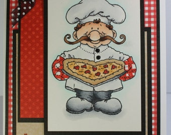 Handmade Greeting Card Lovin Chef