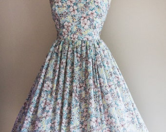 1950s Vintage Print Dress